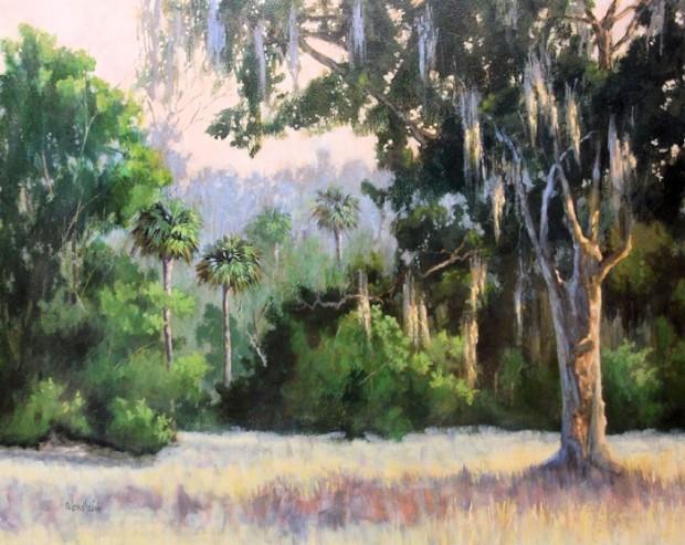 Wood Farm Oak Evinston Florida 30×36 inches acrylic on canvas