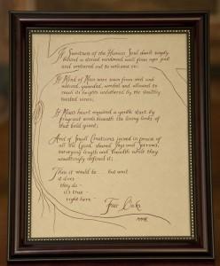 Fair Oaks Poem Gift