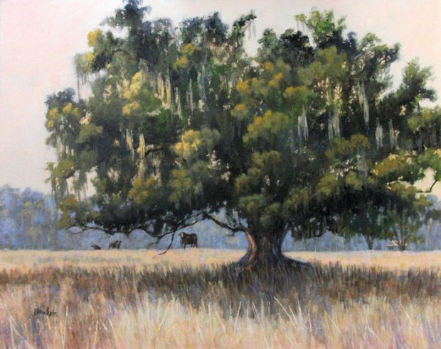 Wood Farm Oak Evinston Florida 30×36 inches acrylic on canvas